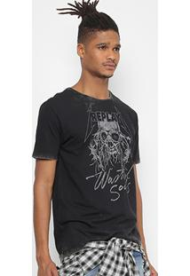 Camiseta Replay Estampada Masculina - Masculino