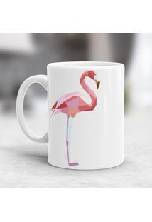 Caneca Porcelana Wevans Flamingo Geométrico
