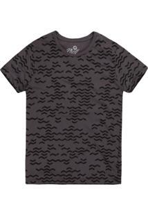 Camiseta Masculina Zigue-Zague Chumbo