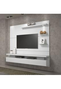 Painel Home Suspenso Dj Móveis Greco Para Tv Até 65'' 1 Porta Basculante 1 Luminária Em Led Branco B