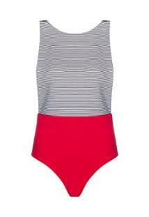 Body Nanui Swim Cava Lobster Feminino - Feminino-Vermelho