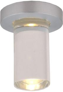 Spot Embutir Redondo 6Cmx2,5Cm 1W Bella Iluminação Caixa Com 5 Unidade 3500K Luz Amarela Bivolt