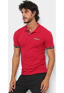 Camisa Polo Polo Rg 518 Lisa Masculina - Masculino-Vermelho