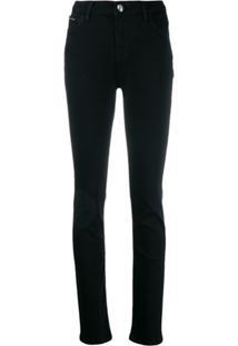 Philipp Plein Calça Jeans Skinny Cintura Alta - Preto
