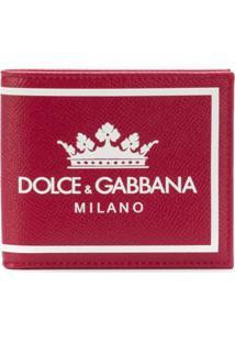 Dolce & Gabbana Carteira 'Dg Milano' De Couro - Vermelho