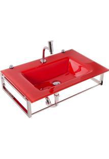 Gabinete Para Banheiro De Vidro William Astra Vermelho