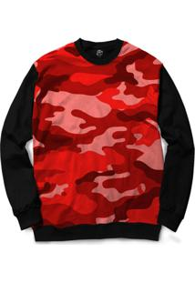 Blusa Bsc Camo Red Full Print - Masculino