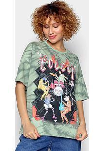 Camiseta Colcci Animal Band Tie Dye Feminina - Feminino