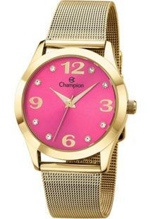 31b4b026b6b ... Relógio Feminino Champion Cn29098J - Unissex-Dourado
