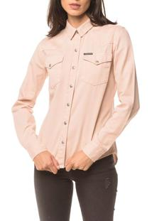 Camisa Color Manga Longa - Rosa Claro - M