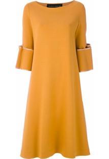 Gloria Coelho Vestido Midi Amplo - Amarelo