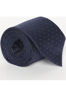 Gravata Em Seda & Poás - Azul Marinho - 8X148Cmcalvin Klein