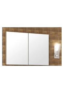 Armário Para Banheiro Com Espelho Na Porta 100Cm Barrique