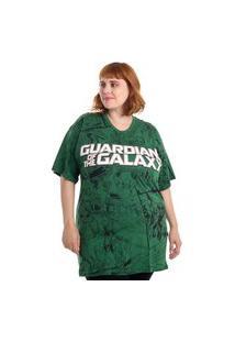 Camiseta Plus Size Guardiões Da Galáxia Rocket Verde