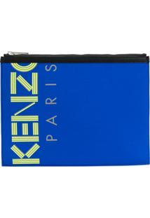 Kenzo Bolsa Clutch Com Logo - Azul