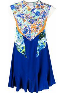 Stella Mccartney Vestido Lydia Com Recorte Floral - Azul