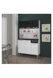Cozinha Compacta Rose 6 Pt 1 Gv Branca E Preta