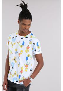 Camiseta Estampada Os Simpsons Off White