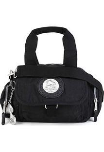 Bolsa Snoopy Shopper Pequena Com Bag Charm Feminina - Feminino-Preto