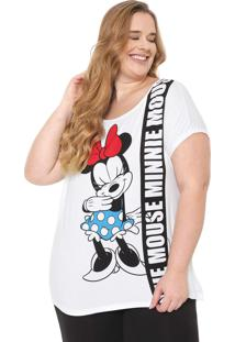 Blusa Cativa Disney Plus Minnie Mouse Branca