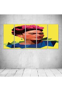 Quadro Decorativo - Frida (2) - Composto De 5 Quadros - Multicolorido - Dafiti