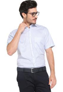 Camisa Dudalina Reta Quadriculada Branca