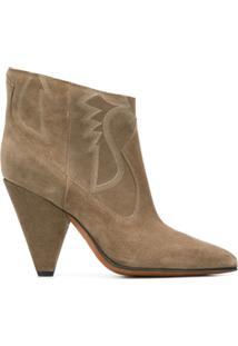 Buttero Ankle Boot Com Bordado - Neutro