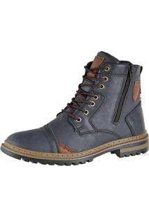 Bota Coturno Attative Boots Masculino - Masculino-Marinho