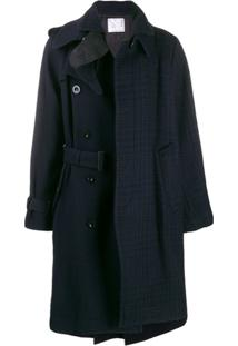 Sacai Trench Coat Assimétrico - Azul
