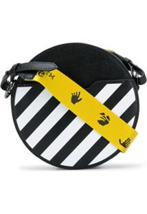 Off-White Diag Round-Body Shoulder Bag - Preto