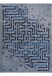 Tapete Lamour- Azul Claro & Azul Escuro- 200X150Cm