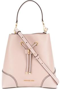 Michael Michael Kors Medium Pebbled Shoulder Bag - Rosa