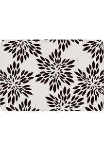 Tapete Flowers- Branco & Preto- 125X90Cm- Wevanswevans