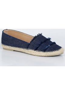 Sapatilha Feminina Espadrille Jeans Via Uno 131085