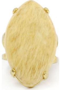 Anel Armazém Rr Bijoux Pedra Areia Dourado