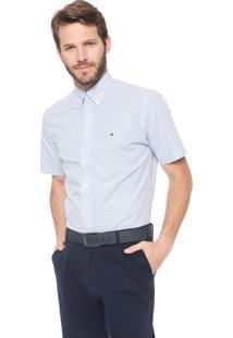 Camisa Tommy Hilfiger Regular Printed Azul