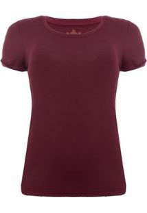Camiseta Aleatory Viscolycra Vinho Feminina - Feminino-Vinho