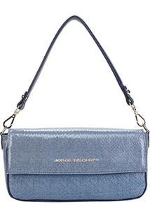 Bolsa Jorge Bischoff Estruturada Jeans Feminina - Feminino-Azul
