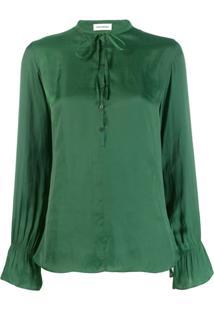 Zadig&Voltaire Blusa Com Amarração - Verde