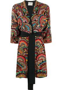 Chufy Kimono Urma Bordado - Preto