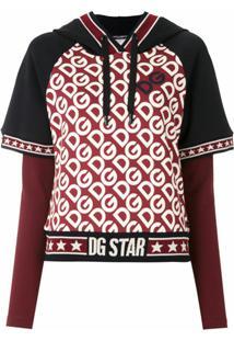 Dolce & Gabbana Blusa Com Capuz Sobreposição - Estampado