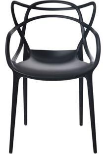 Cadeira Allegra Em Polipropileno Cor Preto - 44936 Sun House