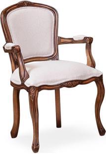 Cadeira Com Braço Tommy Madeira Maciça Design Clássico Avi Móveis