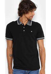 Camisa Polo Forum Piquet Gola Contraste Masculina - Masculino