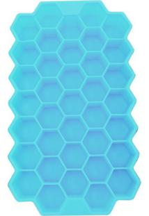 Forma De Silicone Para Gelo Casa De Abelhas Azul 20 X 12 Cm