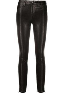 J Brand Calça Skinny Com Estampa De Leopardo - Preto