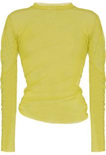 Supriya Lele Ruched Mesh Top - Amarelo