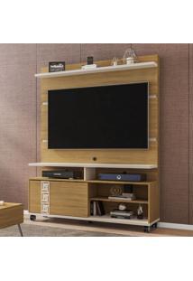 Estante Para Tv Até 52 Polegadas 1 Porta Pérola Cinamomo/Off White - Móveis Bechara