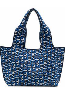 Kenzo Logo-Detail Tote Bag - Azul