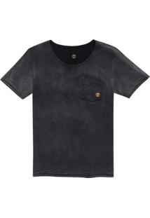 Camiseta Timberland Double Face Washed. - Masculino-Preto